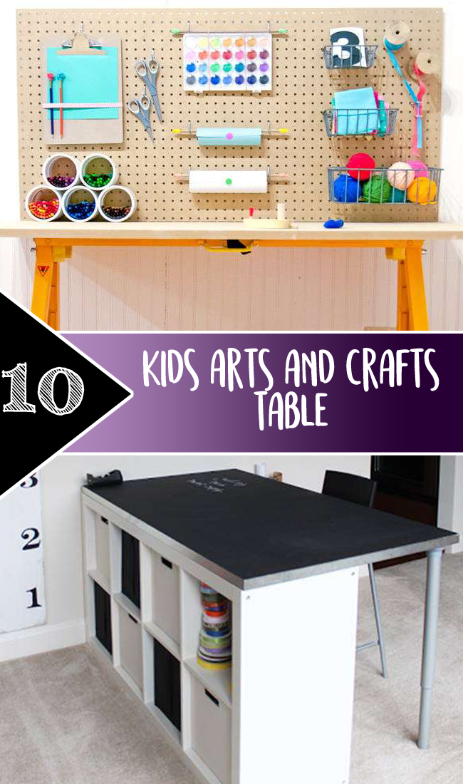 Kids arts and crafts table
